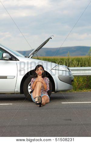 Failed Engine And A Woman
