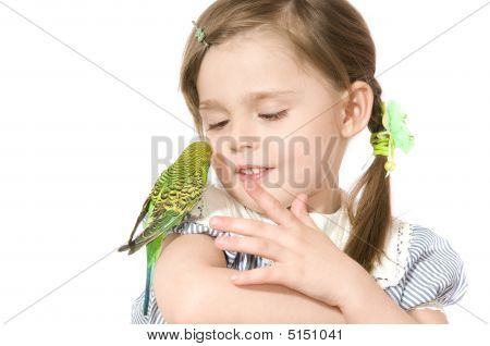 Little Girl With Parrot