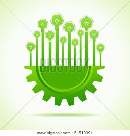 Illustration of Bulbs on half gear