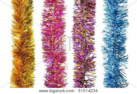 Four Tinsel Garlands