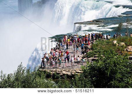 Tourist At Niagara Falls