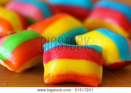 Colorful candy, closeup