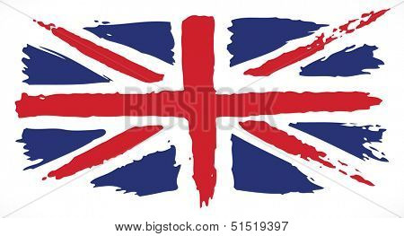 Grunge UK flag. Painted UK flag