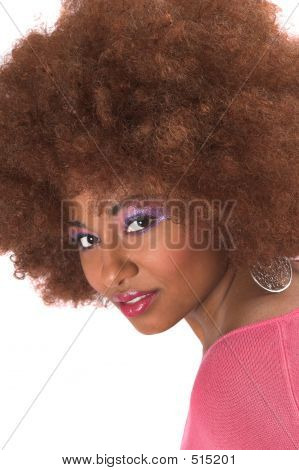 Gorgeous Black Woman With Afro Hair