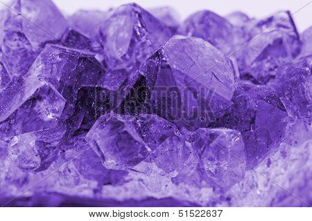 Crystal Macro Photo In Purple Color