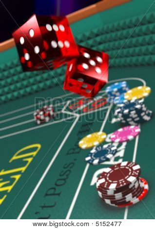 Craps Table - Narrow Dof