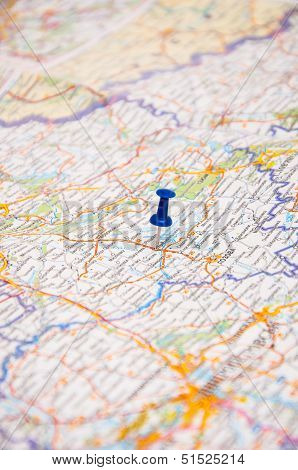 Blur Pin On A Map