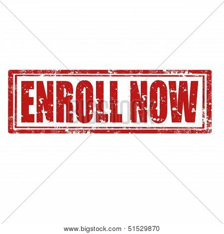 Enroll Now-stamp