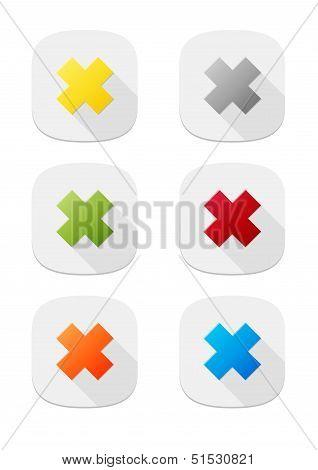 The false icon buttons set