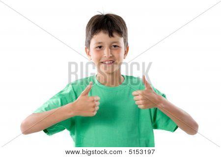 Happy Boy Saying Ok