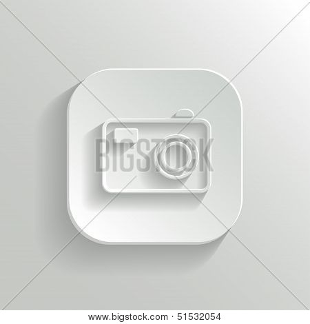 Camera Icon - Vector White App Button