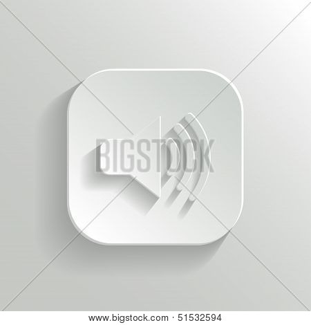 Speaker Icon - Vector White App Button