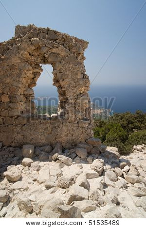 The remains of the fortress of the Hospitallers in Rhodes