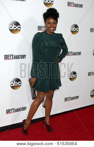 LOS ANGELES - SEP 28:  Jerrika Hinton at the Grey's Anatomy 200th Show Party at The Colony on September 28, 2013 in Los Angeles, CA