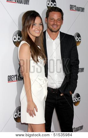 LOS ANGELES - SEP 28:  Camilla Luddington, Justin Chambers at the Grey's Anatomy 200th Show Party at The Colony on September 28, 2013 in Los Angeles, CA