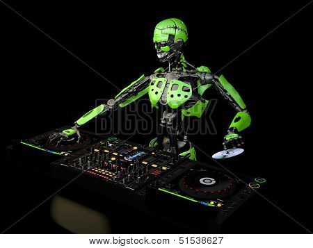 Robot Dj - Green