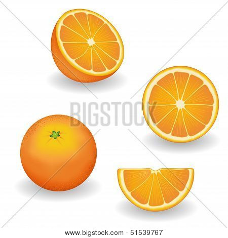 Oranges, Four Views