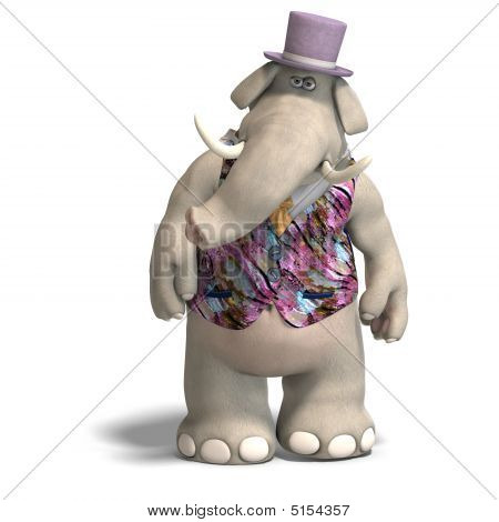 Elephant Bridegroom In Tux
