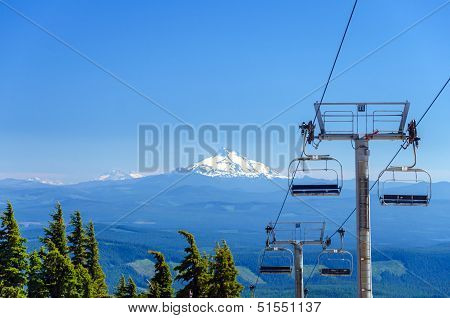Mount Jefferson And Chairlifts