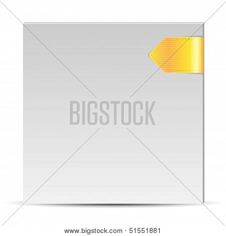 Folder Of White Color With A Yellow Book-mark