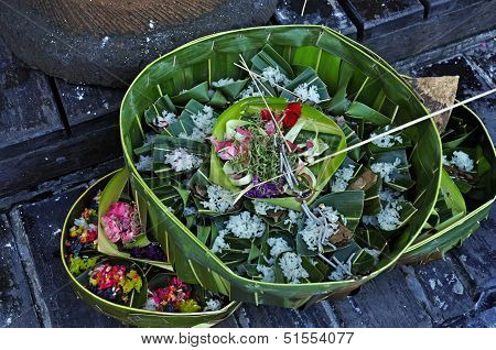 Food and Flower Offering
