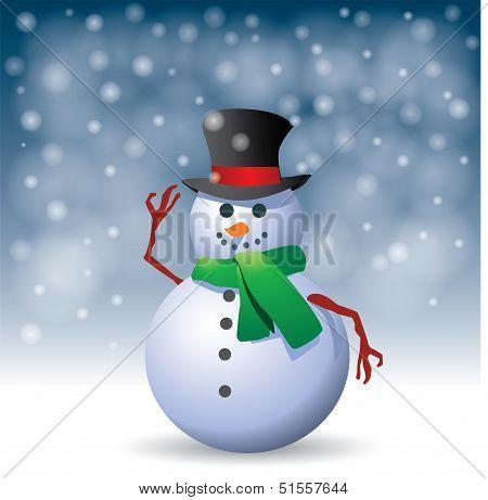 Snowman - Illustration