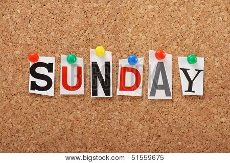 The word Sunday