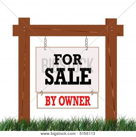 Real Estate Sign For Sale By Owner