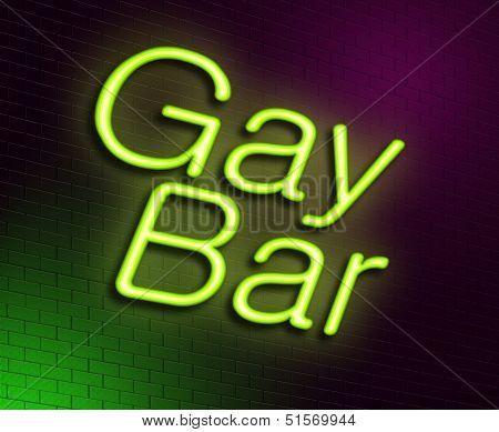 Gay Bar Concept.