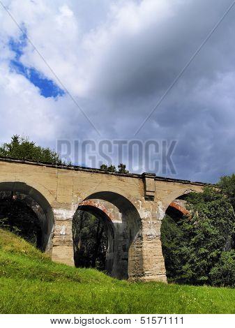 Old Train Viaduct In Poland