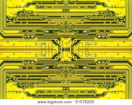 Yellow Electronic Microcircuit.background.