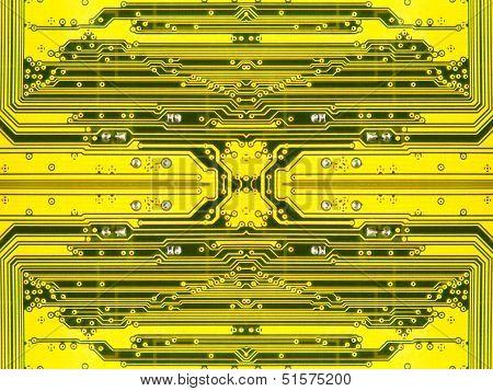 Yellow Electronic Microcircuit.background.