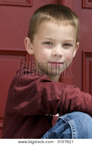 Cute Blond 6 Year Old Boy