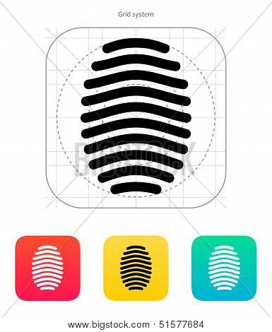 Fingerprint arch type icon.