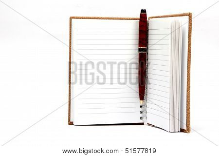 Open Agenda Or Notebook