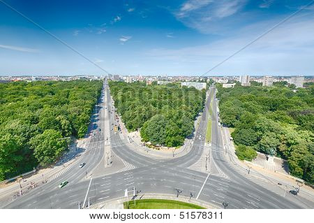 West Berlin As Seen From The Victory Column