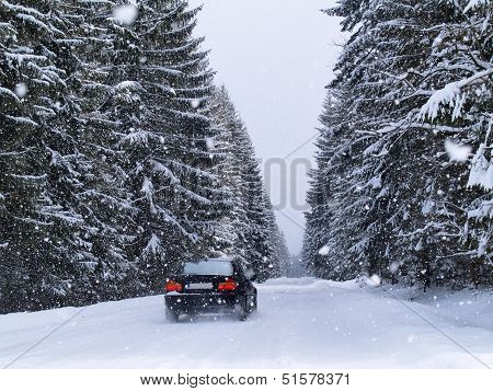 Road During Snowfall