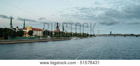 Riga (Latvia)  in the evening