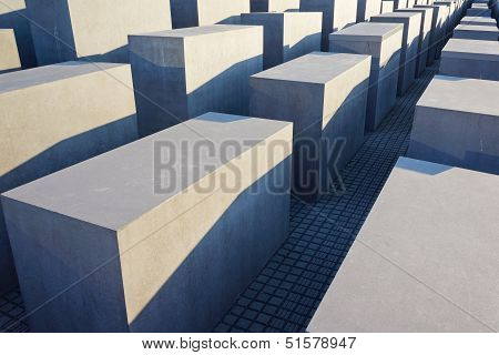The Holocaust Memorial In Berlin, Germany