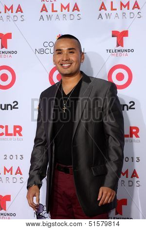 LOS ANGELES - SEP 27:  Jovanny Venegas at the 2013 ALMA Awards - Arrivals at Pasadena Civic Auditorium on September 27, 2013 in Pasadena, CA