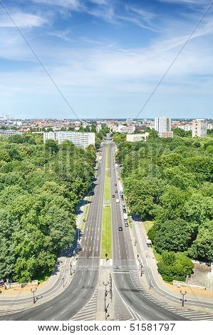 The City Of Berlin Seen From The Victory Column Monument