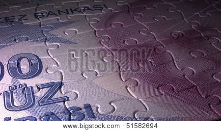 Turkish Lira And Puzzle