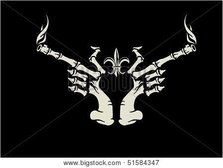 Skull hand guns
