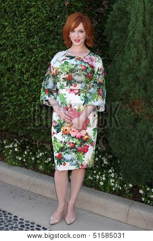 LOS ANGELES - SEP 29:  Christina Hendricks at the Rape Foundation Annual Brunch at Green Acres Estate on September 29, 2013 in Beverly Hills, CA