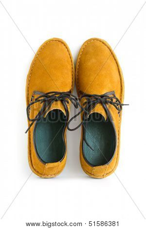 isolated male modern style moccasin