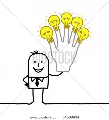 man with lot of ideas and energy