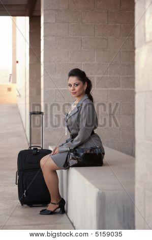 Hispanic Woman Traveler