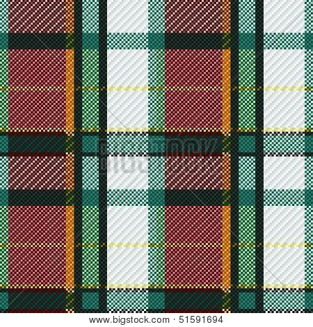 Seamless Checkered Colorful Pattern
