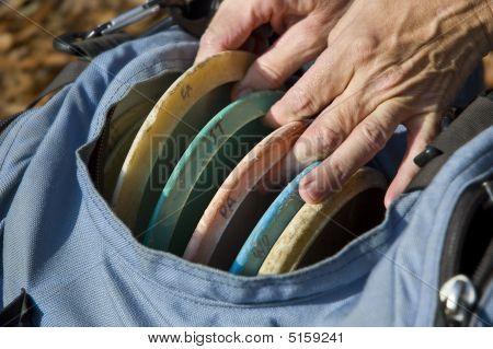 Mãos de golfe de disco