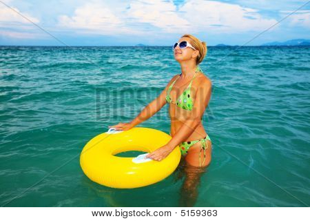 Woman With Yellow Tube